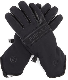 Bogner Fire & Ice Ilona Shell And Leather Ski Gloves - Black
