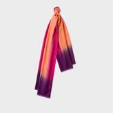 Paul Smith Men's Burnt Orange Dip-Dye Herringbone Cashmere Scarf