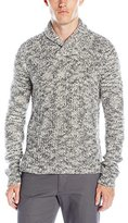 Calvin Klein Men's Asymetric Cable-Knit Shawl-Collar Sweater