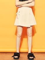 Blank Eyelet Mini Skirt-be