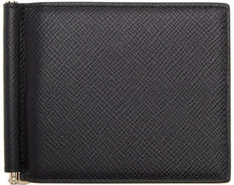 Smythson Black Panama Money Clip Wallet