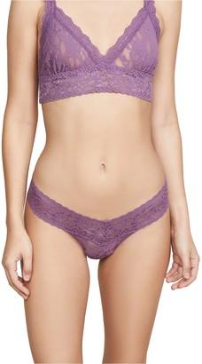 Hanky Panky Women's Signature Lace Low-Rise Thong Panty Topaz Purple