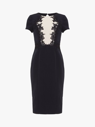 Phase Eight Phoebe Lace Dress, Navy/Oyster