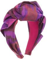 Jennifer Behr Satin Printed Headband