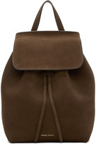 Mansur Gavriel Brown Suede Mini Backpack