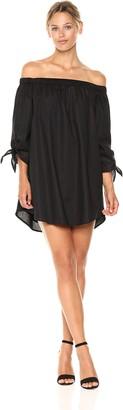 Lucca Couture Women's Eliana Off The Shoulder Tie Sleeve Dress