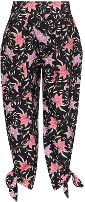Isabel Marant Floral-Print Tapered Trousers