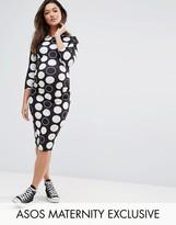 Asos TALL Spot Midi Bodycon Dress