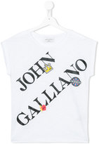 John Galliano logo print T-shirt - kids - Cotton/Modal - 16 yrs