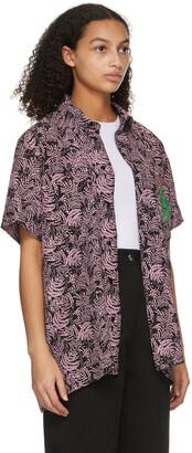 SSENSE WORKS SSENSE Exclusive Jeremy O. Harris Black & Pink Rose Bowling Shirt