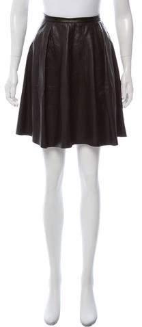 Derek Lam Leather Mini Skirt