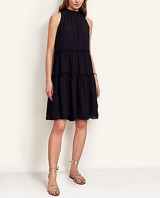 Ann Taylor Tall Clip Ruffle Shift Dress
