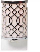 Yankee Candle Scent-Plug Air Freshener Base Silver Pink Fretwork New
