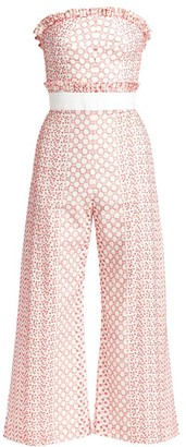 Alexis Pretti Embroidered Ruffle Jumpsuit