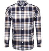 Gant Long Sleeve Brushed Oxford Check Shirt Navy