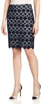 Vince Camuto Women's Embroidered Lace Pencil Skirt