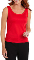 Peter Nygard Plus Open Scoop Neck Tank
