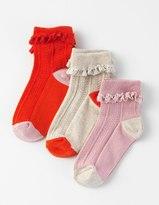 Boden 3 Pack Frilly Socks