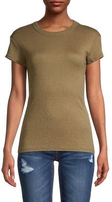 Michael Stars Banded Crewneck Knit T-Shirt