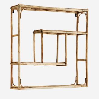 Madam Stoltz - Quadratic Bamboo Shelf - bamboo