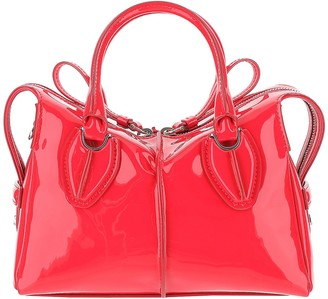 Tod's Bright Red Patent Leather Small D-Styling Bag