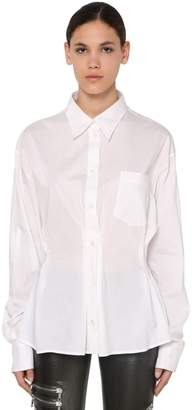 Unravel Cotton & Silk Poplin Shirt