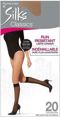 Silks Two-Pack Run Resistant Knee Highs