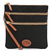 Dooney & Bourke Nylon Triple-Zip Cross-Body Bag