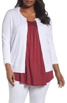 Sejour Plus Size Women's Button Front Cardigan