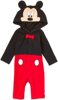 Children's Apparel Network Red & Black Mickey Mouse Playsuit - Infant