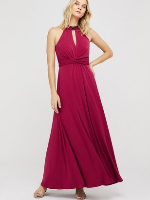 Monsoon Izzie Embellished Jersey Maxi Dress - Pink