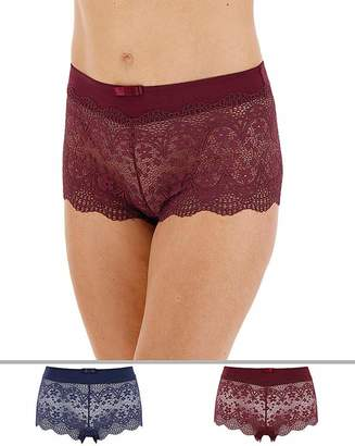 Pretty Secrets 2 Pack Lottie Lace Briefs