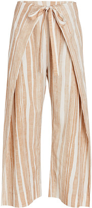 Cult Gaia Marais Striped Tie-Waist Pants