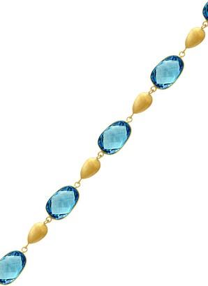Effy 14K Yellow Gold & Blue Topaz Bracelet