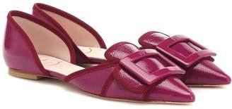 Roger Vivier Soft Gommettine patent leather ballet flats