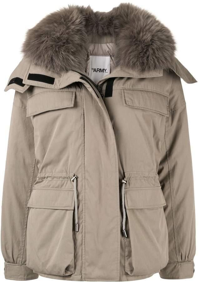 Yves Salomon loose-fit padded jacket
