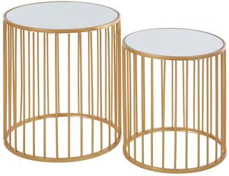 Premier Housewares Avantis Round Side Tables Set Of 2