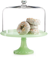 Martha Stewart Collection Jadeite Cake Stand with Dome