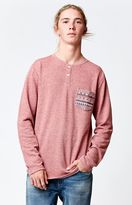 Volcom Tribal Pocket Long Sleeve Henley T-Shirt