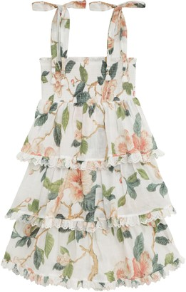 Zimmermann Kirra Shirred Tiered Dress