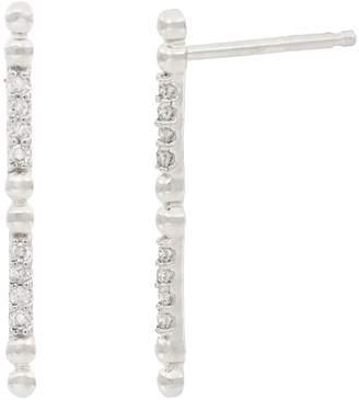 Carriere Sterling Silver Diamond Bar Earrings - 0.10 ctw