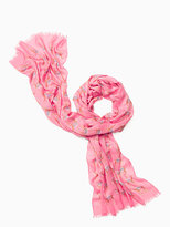 Kate Spade Camel march oblong scarf