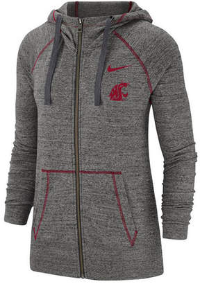 Nike Women Washington State Cougars Gym Vintage Full Zip Jacket