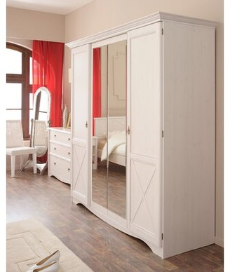Pippa 4 Door Armoire Rosalind Wheeler