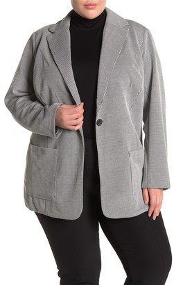 Philosophy di Lorenzo Serafini Notch Collar One Button Knit Blazer (Plus Size)