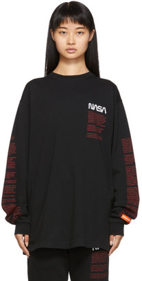 Heron Preston Black Facts Long Sleeve T-Shirt