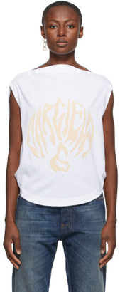 MM6 MAISON MARGIELA White Draped Logo T-Shirt