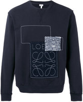 Loewe stitched patch sweatshirt - men - Cotton - S