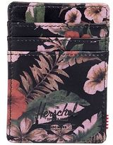Herschel Supply Raven Leather Card Holder Wallet - Men's