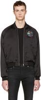 Saint Laurent Black Teddy 'Sweet Dreams' Shark Bomber Jacket